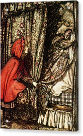 Little Red Riding Hood Acrylic Print by Arthur Rackham