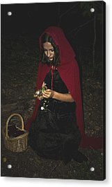 Little Red Riding Hood Acrylic Print by Cherie Haines