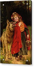Little Red Riding Hood Acrylic Print by Gabriel Joseph Marie Augustin Ferrier