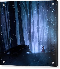 Little Red Riding Hood Acrylic Print by Sebastien Del Grosso
