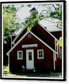 Little Red Schoolhouse Acrylic Print by Gail Matthews