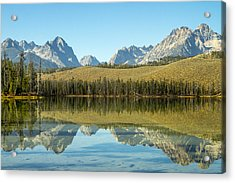 Little Redfish Lake Acrylic Print by For Ninety One Days