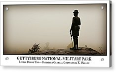 Little Round Top -- Poster Acrylic Print by Stephen Stookey