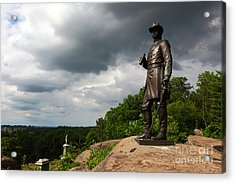 Little Round Top Hill Gettysburg Acrylic Print by James Brunker
