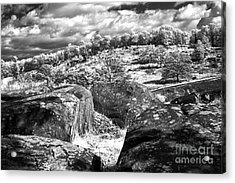 Little Roundtop Overlooking Devils Den Acrylic Print by Paul W Faust -  Impressions of Light
