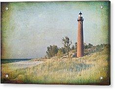 Little Sable Lighthouse Acrylic Print by Leo Cumings