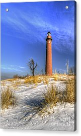 Little Sable Lighthouse Winter Acrylic Print by Twenty Two North Photography