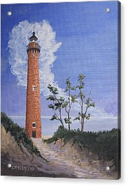 Little Sable Point Lighthouse Acrylic Print by Jerry McElroy