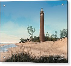 Little Sable Point Lighthouse Acrylic Print by Darren Kopecky
