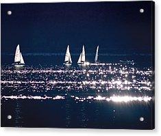 Little Sailing Boats Acrylic Print by Lana Cuk