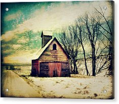 Little Sioux Corn Crib Acrylic Print