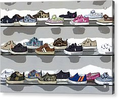 Little Sneakers Acrylic Print by Keith Armstrong
