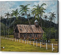 Little Stone Church Acrylic Print by Darice Machel McGuire