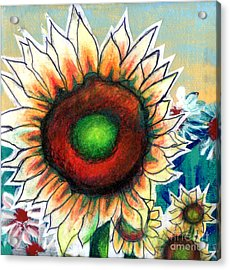 Little Sunflower Acrylic Print by Genevieve Esson
