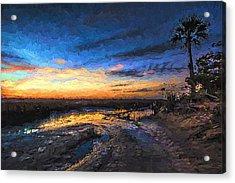 Little Talbot Sunset   Acrylic Print