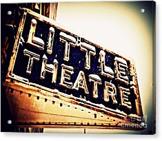 Little Theatre Retro Acrylic Print by James Aiken