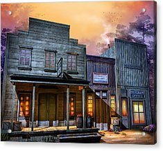 Little Town Acrylic Print by Joel Payne