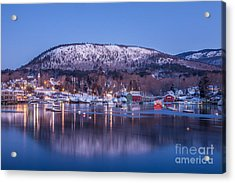 Little Town Of Camden Acrylic Print by Susan Cole Kelly