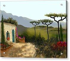 Little Villa Of Tuscany Acrylic Print by Larry Cirigliano