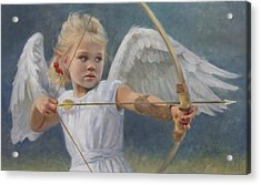 Little Warrior Acrylic Print by Anna Rose Bain