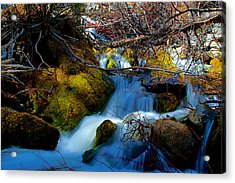 Little Water Fall Acrylic Print by Kevin Bone