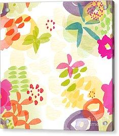 Little Watercolor Garden Acrylic Print by Linda Woods