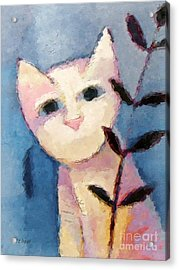 Little White Cat Acrylic Print