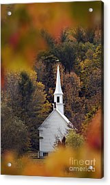 Little White Church - D007297 Acrylic Print