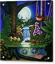 Little World Chapter Full Moon Acrylic Print