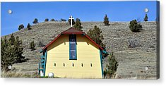 Little Yellow Church Acrylic Print by Heather L Wright