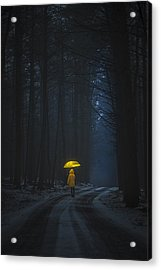Little Yellow Riding Hood Acrylic Print
