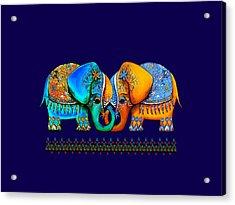 Littlest Elephant Love Links Acrylic Print by Karin Taylor