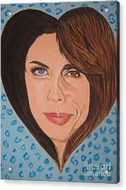 Acrylic Print featuring the painting Liv And Steven Tyler Painting by Jeepee Aero
