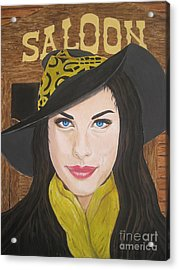 Acrylic Print featuring the painting Liv Tyler Painting by Jeepee Aero