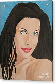 Liv Tyler Painting Portrait Acrylic Print by Jeepee Aero