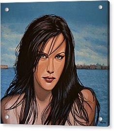 Liv Tyler Acrylic Print by Paul Meijering