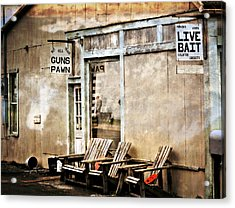 Live Bait Acrylic Print by Marty Koch