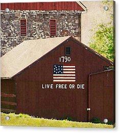 Live Free Or Die Acrylic Print