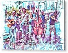 Live Jazz In Asheville Acrylic Print by John Haldane