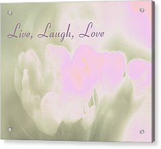 Live Laugh Love  Acrylic Print by Penny Hunt