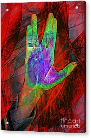 Live Long And Prosper 20150302v2 Acrylic Print by Wingsdomain Art and Photography