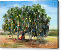 Live Oak Christmas Acrylic Print