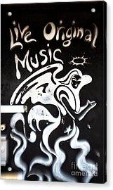 Live Original Music Acrylic Print by John Rizzuto