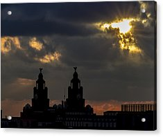Liver Building And Stormy Skies Acrylic Print