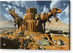 Living Fossils In A Desert Landscape Acrylic Print