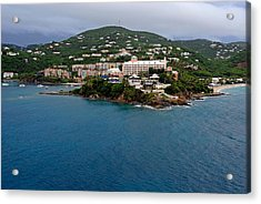 Living High In Saint Thomas Acrylic Print by Willie Harper