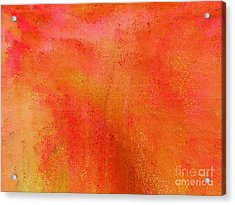 Living In A Tangerine World Acrylic Print by Ann Johndro-Collins