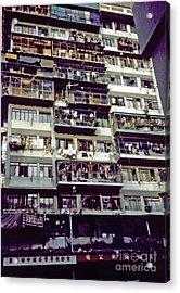 Living In Hong Kong Acrylic Print by Scott Shaw