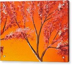 Living Loving Tree Top Right Acrylic Print by Darren Robinson