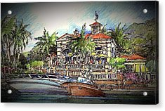 Acrylic Print featuring the drawing Living Port by Andrew Drozdowicz